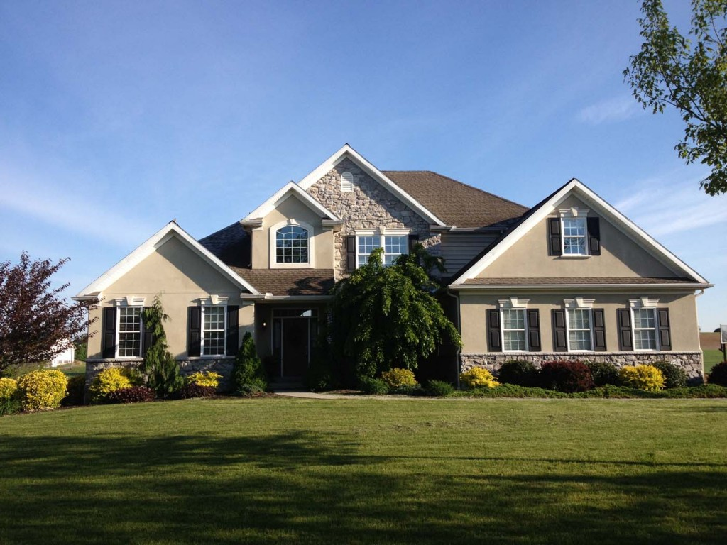 Beautiful new home custom designed in manheim dombach for Home builder contractors
