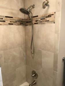 Tile surround bathtub after